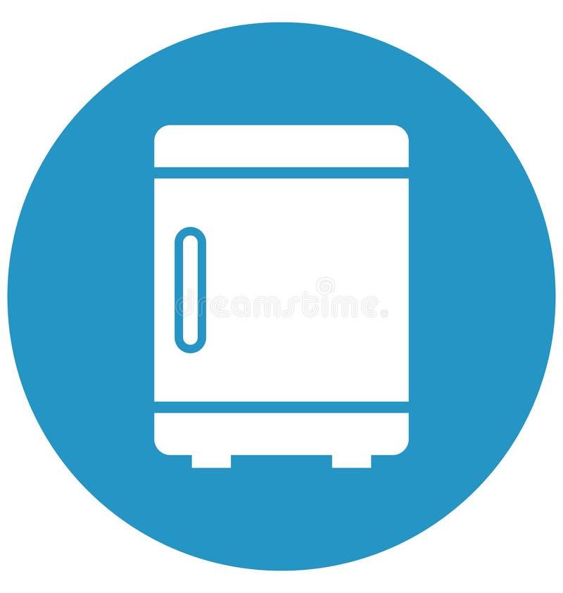 Chłodnia Odizolowywał Wektorową ikonę która może łatwo redagować lub modyfikować ilustracji