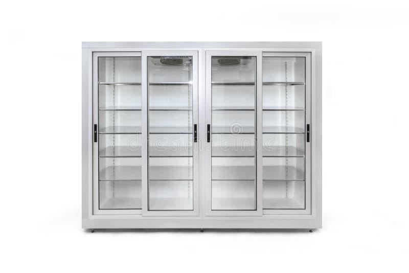 Chłodnicza szklana skrzynka zdjęcia royalty free