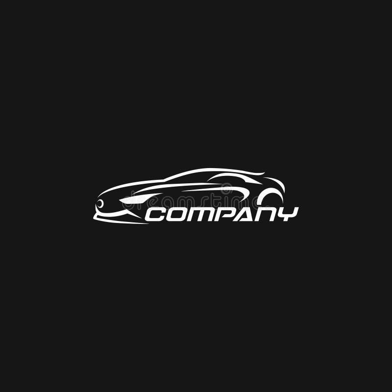 Chłodno czarny i biały samochodowy logo dla jakaś usługi i biznesu royalty ilustracja