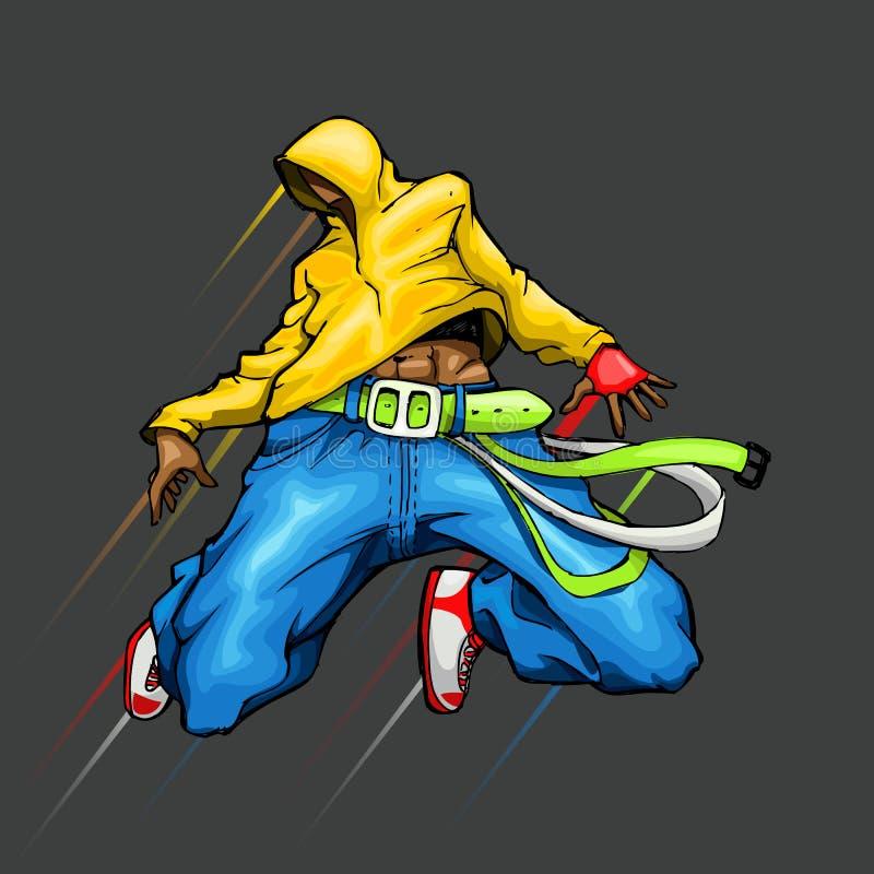 chłodno dancingowy facet ilustracja wektor