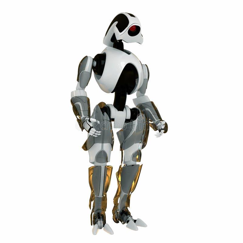 chłodno futurystyczny wojownik royalty ilustracja