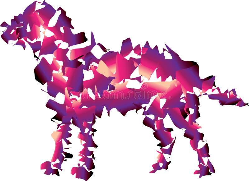 Chłodno gładzi psa Purpur i menchii kolory ilustracja wektor
