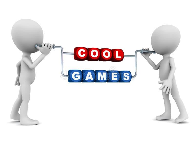 Chłodno gry royalty ilustracja