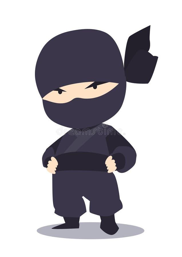 Chłodno Japoński ninja royalty ilustracja