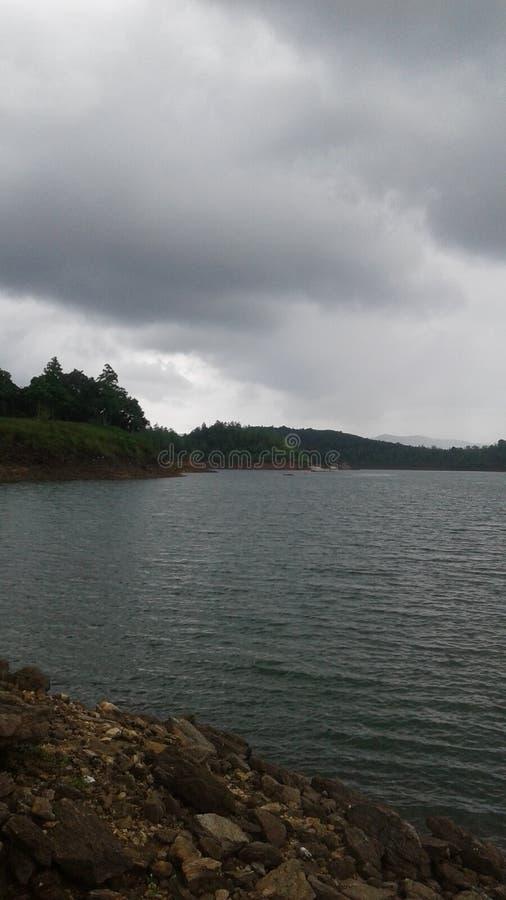 Chłodno jezioro w nuwaraeliya obrazy stock