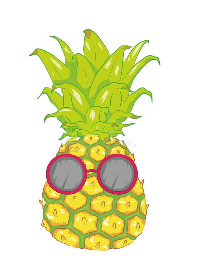 Chłodno lato ananas obrazy stock