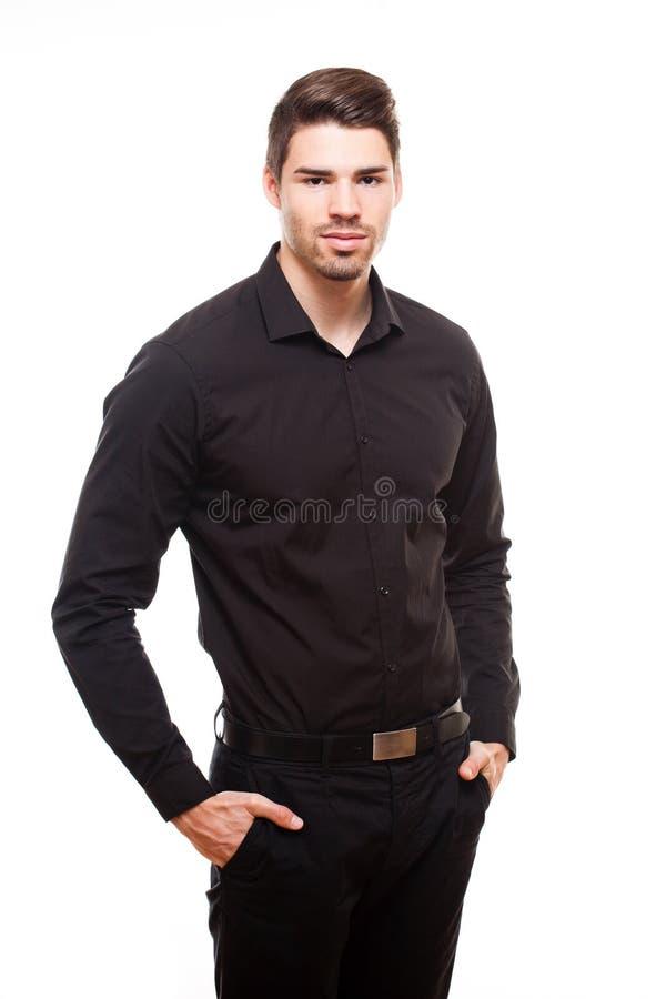 Chłodno młody biznesmen. obraz stock