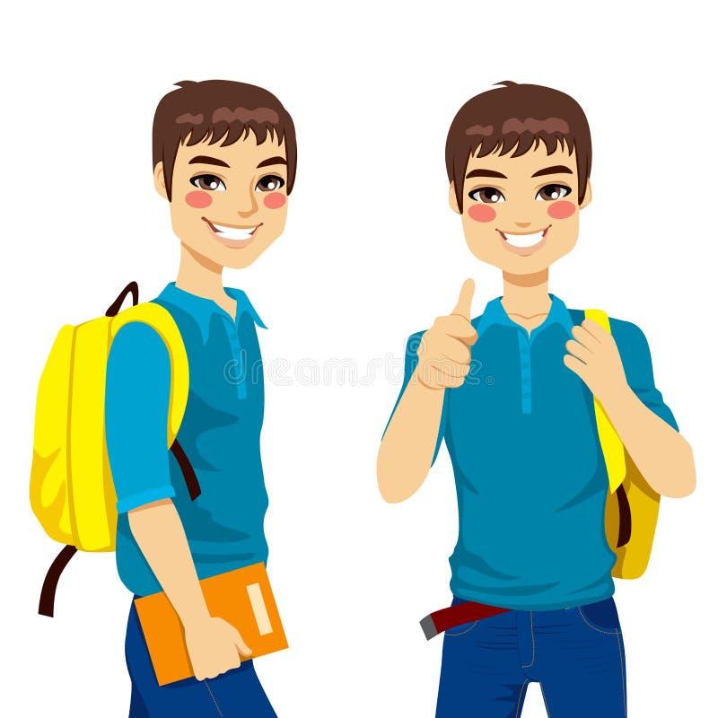 Chłodno Nastoletni uczeń ilustracji