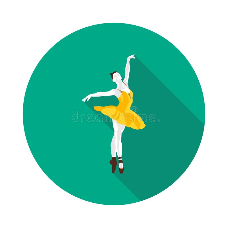 Chłodno płaska baleriny ikona ilustracji