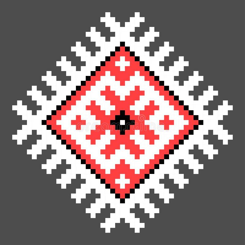 Chłodno przecinający ściegu element Odosobniony ukraiński wzór royalty ilustracja