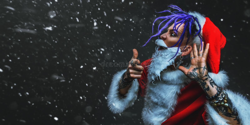 Chłodno punkowy Santa obrazy royalty free