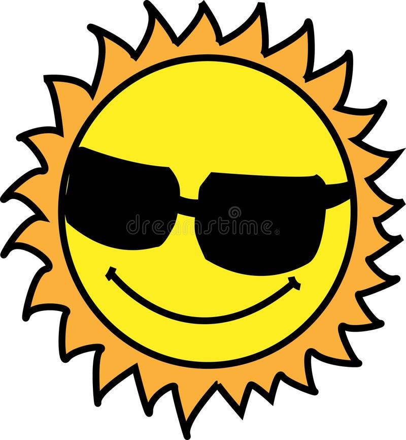 chłodno słońce ilustracja wektor