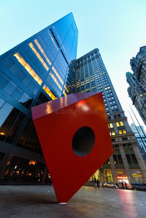 Chłodno statua w niskim Manhattan obraz stock