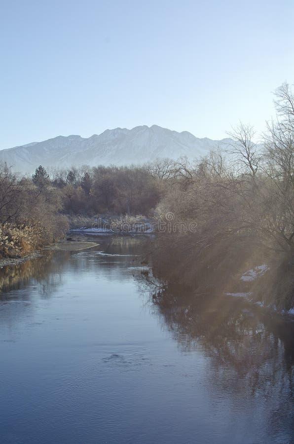Chłodno zimna Utah doliny zatoczka fotografia stock