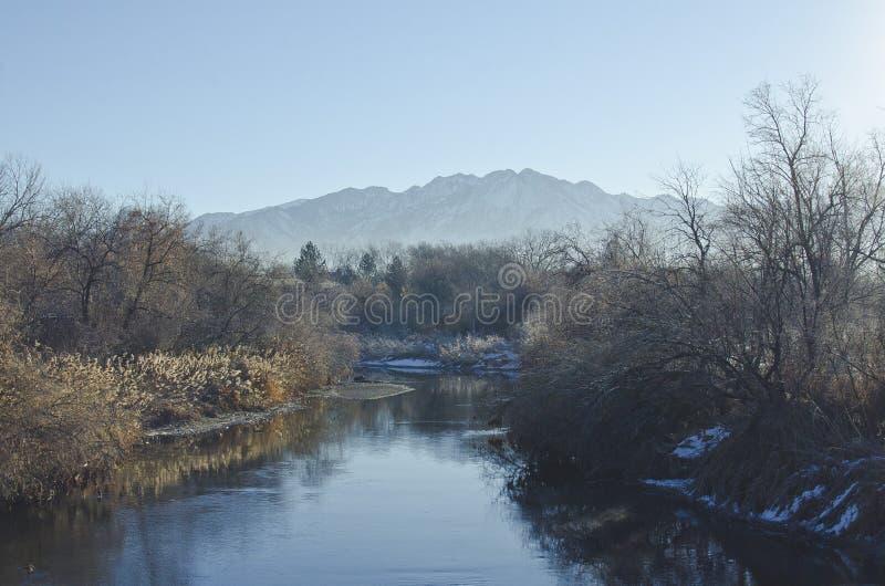 Chłodno zimny Utah zatoczki dolinny krajobraz fotografia stock
