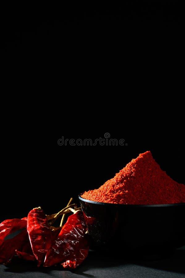 Chłodny proszek z czerwony chłodnym w bielu talerzu zdjęcie stock