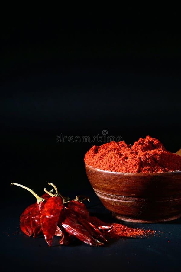 Chłodny proszek z czerwony chłodnym w bielu talerzu obraz stock