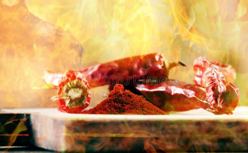 Chłodny w płomieniach zdjęcia royalty free