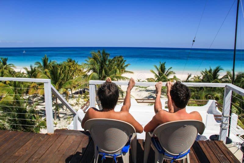 Chłodzący na dachowym wierzchołku Casa Blanca, Rancho Pedro Paila, Sian Ka ` rezerwa, Quintana Roo, Meksyk obraz royalty free