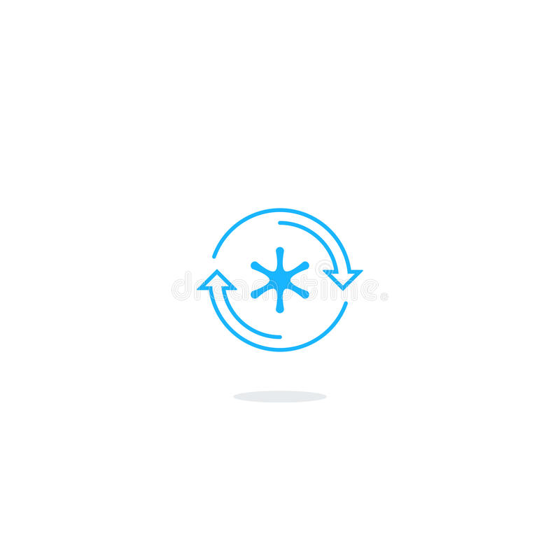 Chłodziarki ikona, temperaturowej kontrola logo ilustracja wektor