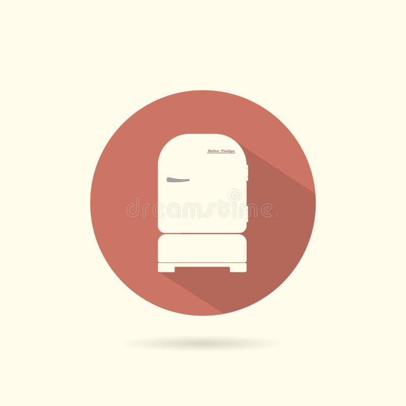 Chłodziarki round płaska ikona ilustracji