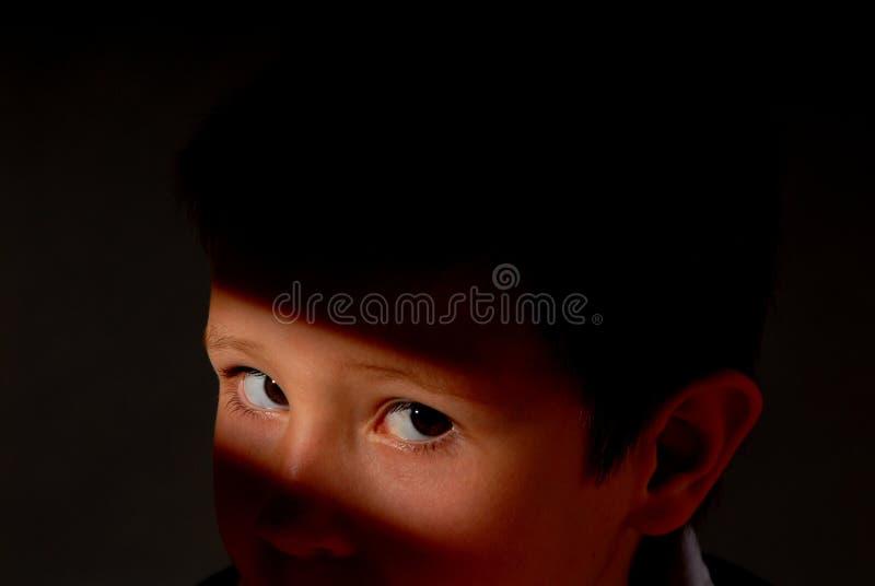 chłopak jest oczy obraz royalty free
