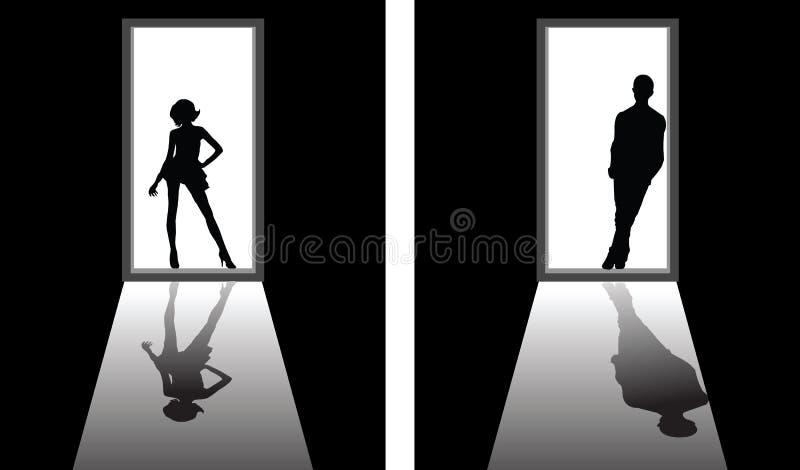 Chłopak lub dziewczyna ilustracji