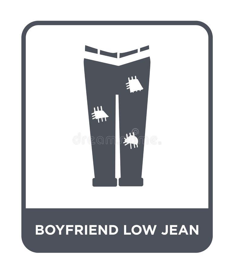 chłopak niska cajgowa ikona w modnym projekta stylu chłopak niska cajgowa ikona odizolowywająca na białym tle chłopaka niski cajg ilustracji