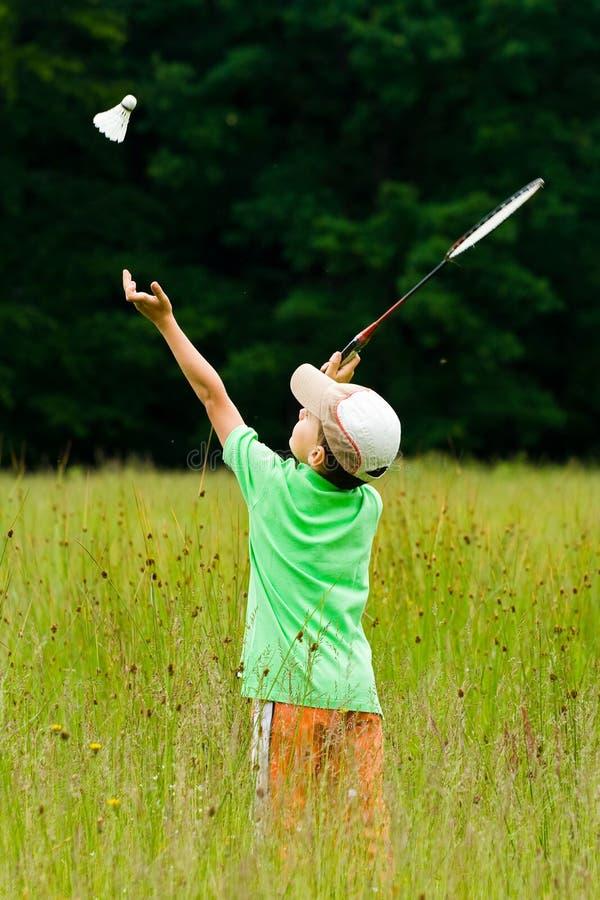 chłopak się badminton obraz royalty free