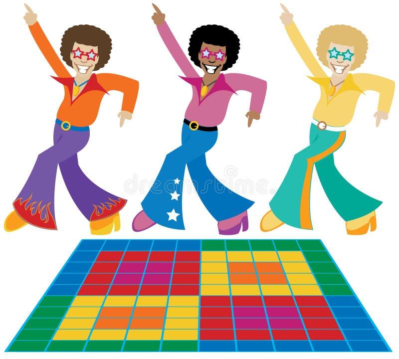 chłopaki disco royalty ilustracja