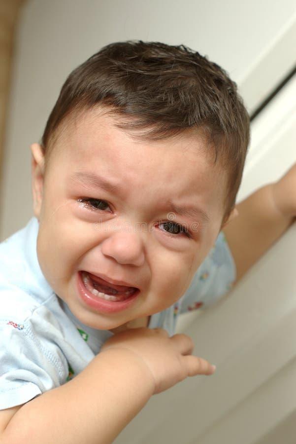 chłopcy 3 płakać zdjęcie royalty free