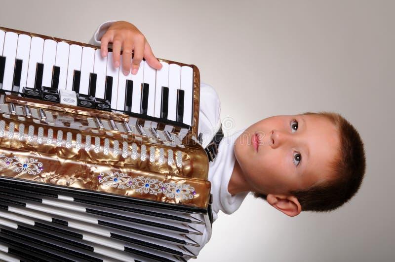 chłopcy akordeon obraz stock