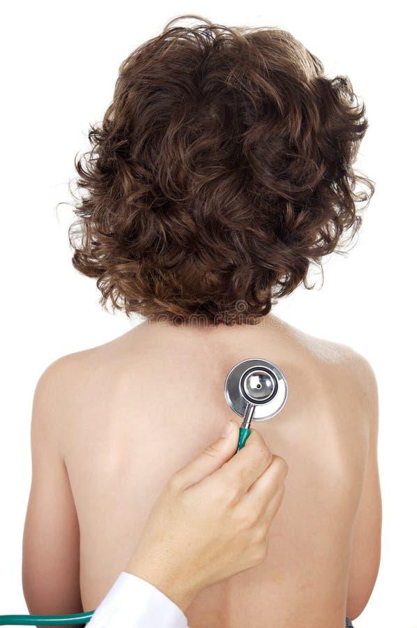 chłopcy bada stetoskop fotografia stock