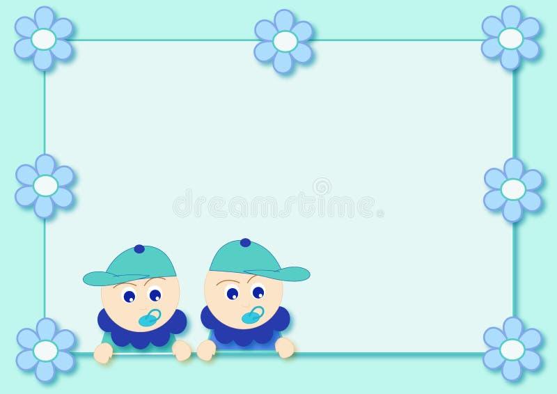 chłopcy bliźniacze ilustracji