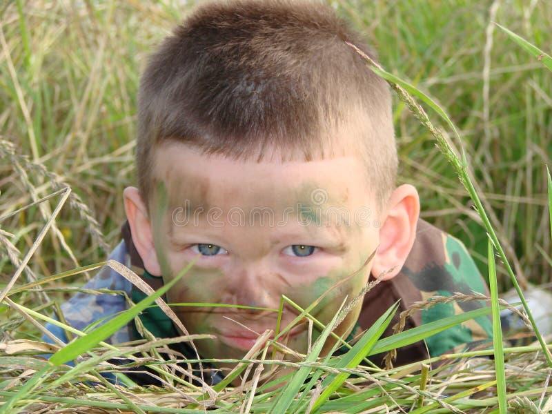 chłopcy camoflauged armii. zdjęcie stock