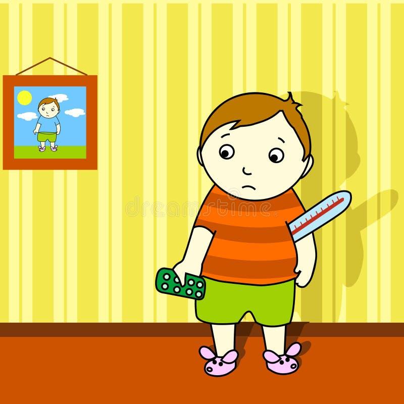 chłopcy choroby ilustracja wektor