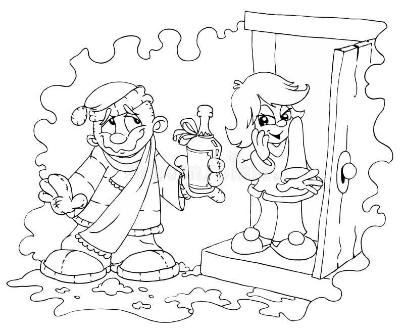chłopcy dziewczyna ilustracji