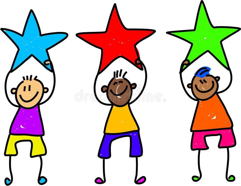chłopcy gwiazda royalty ilustracja