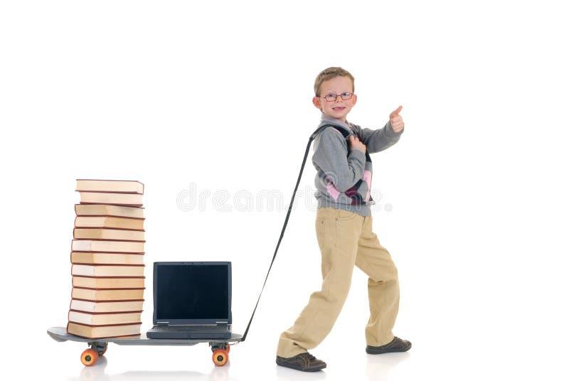 chłopcy internetu surfing biblioteczna. fotografia stock
