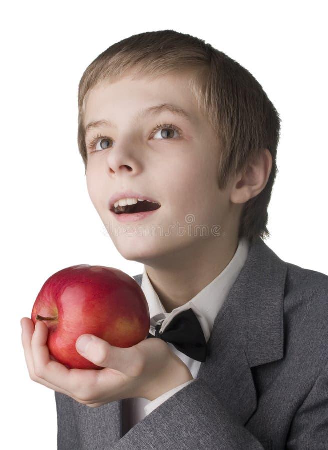 chłopcy jabłczana zdjęcia stock