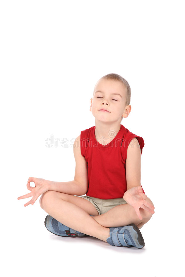 chłopcy jogi fotografia stock