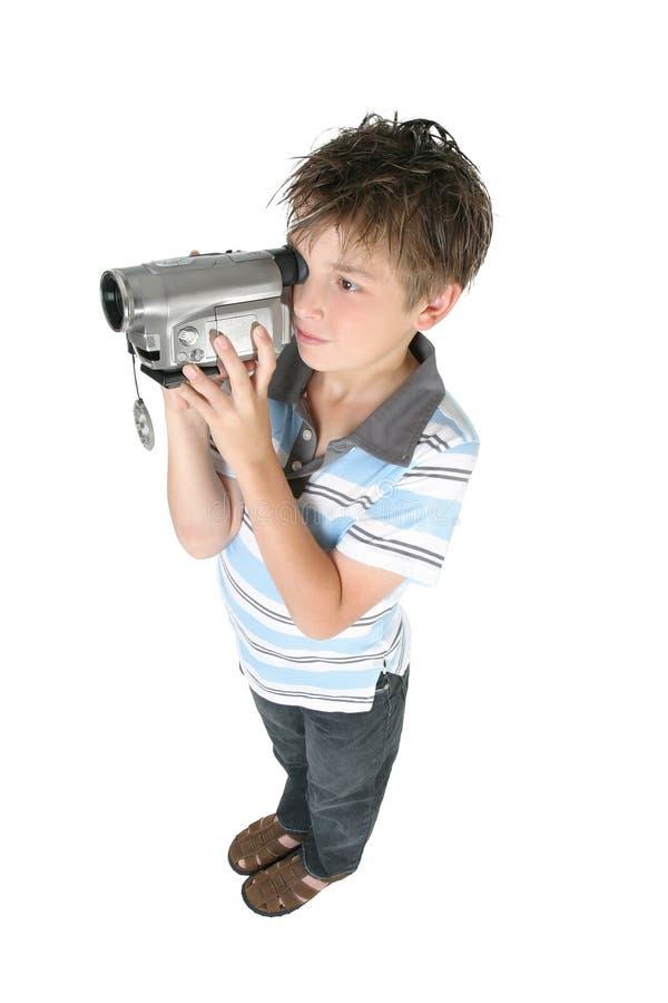 chłopcy kamery cyfrowej stanowisko używać video obraz royalty free