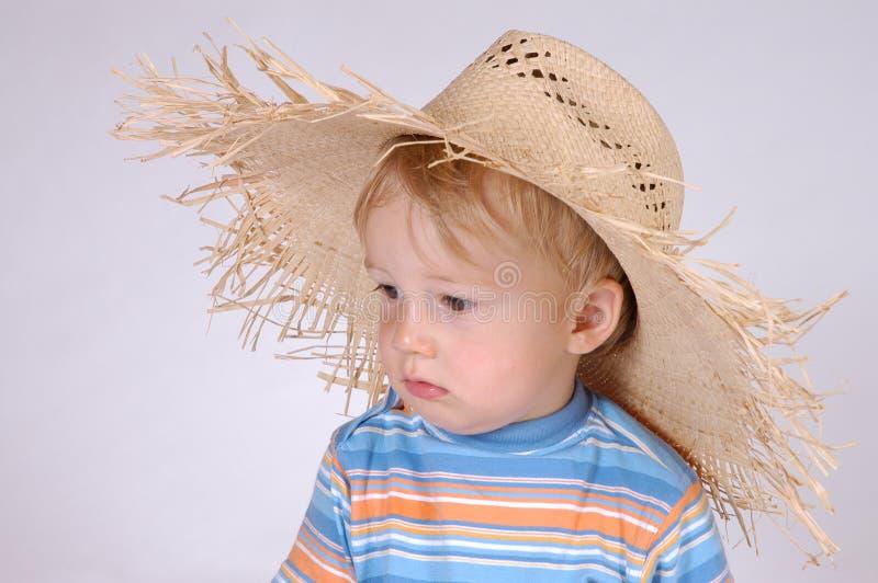 chłopcy kapelusza mała słomy iv obraz royalty free