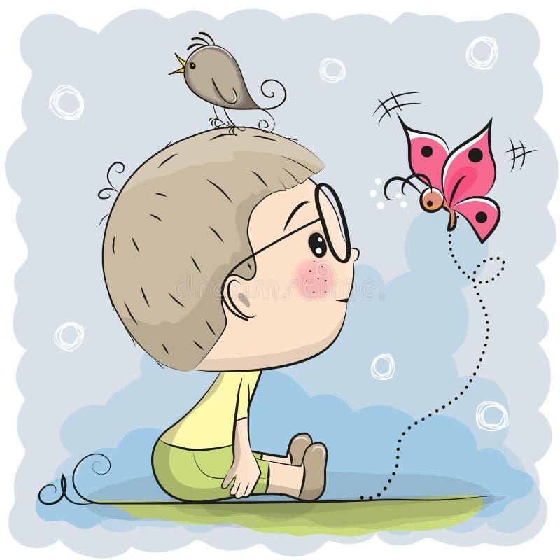 chłopcy kreskówka słodka ilustracja wektor
