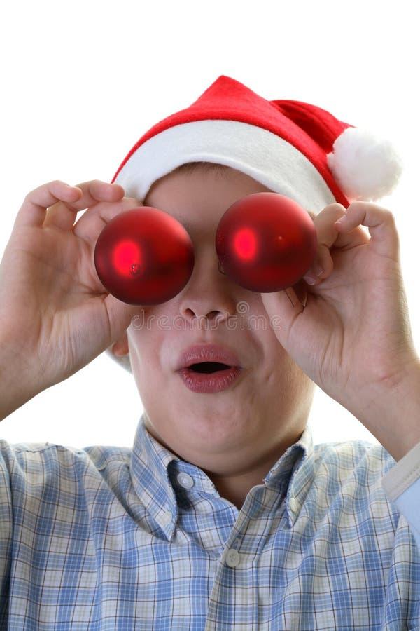 chłopcy ornamentu Świąt się drzewa young zdjęcie stock