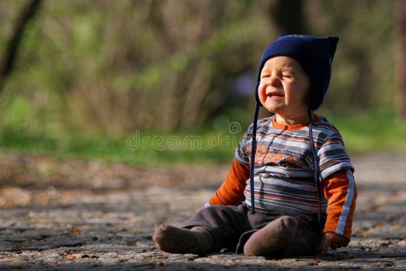 chłopcy płaczu young obrazy royalty free