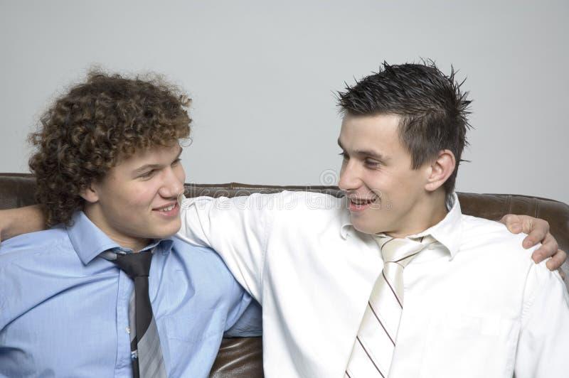 chłopcy partnerstwa zdjęcia stock