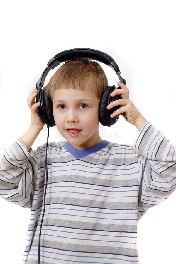 chłopcy słuchawki zdjęcie stock