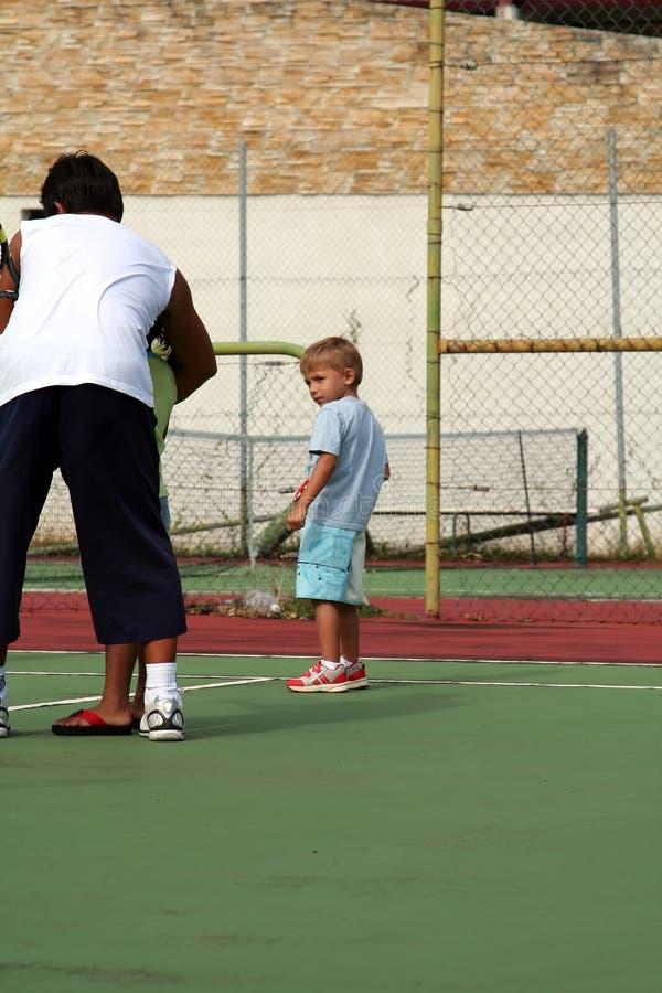 chłopcy tenis kształcenia zdjęcie stock