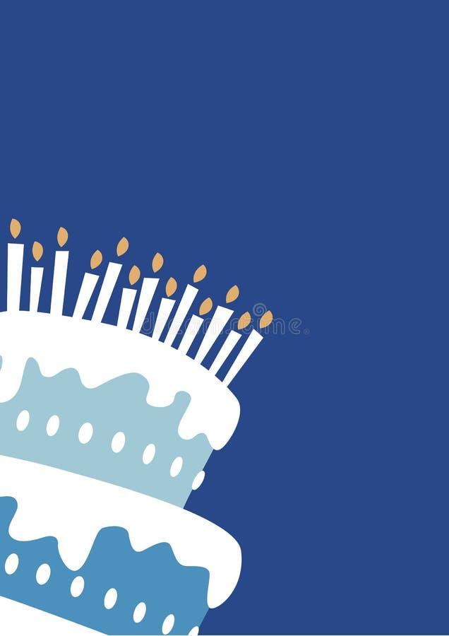 chłopcy tort urodzinowy royalty ilustracja